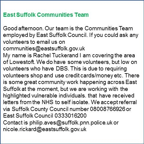 East Suffolk Communities team