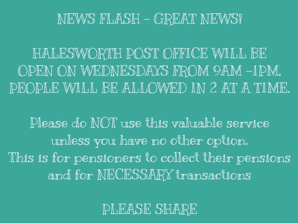 halesworth post office